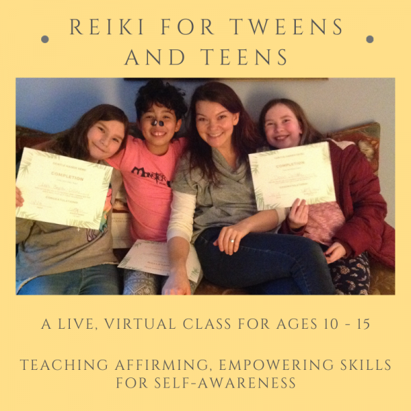 'Reiki for Teens and Tweens' Gift Certificate